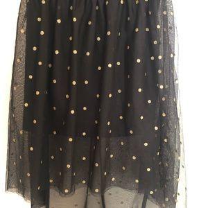 Girls black and gold skirt